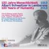 Die CD zum Albert-Schweitzer-Jahr-2013